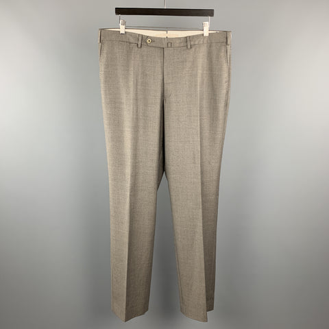 ERMENEGILDO ZEGNA TROFEO Size 38 x 36 Gray Wool Dress Pants