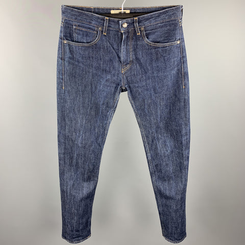 LEVI'S MADE & CRAFTED Size 32 Indigo Contrast Stitch Denim Zip Fly Jeans