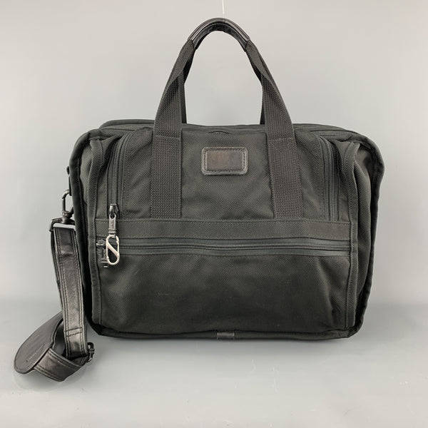 TUMI Black NylonCanvas Carry On Travel Bag