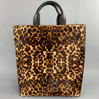 DRIES VAN NOTEN Tan Black Animal Print Pony Hair Tote Bag