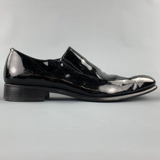 CALZOLERIA HARRIS for BARNEYS NEW YORK Size 10 Black Patent Leather Slip On Loafers