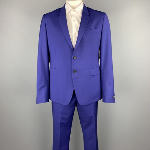 PAUL SMITH Size 44 Regular Royal Blue Wool / Mohair Suit
