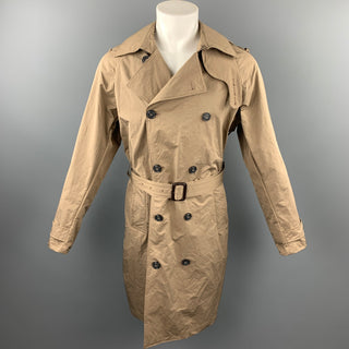 NICK WOOSTER x PAUL & SHARK Size M Tan Mixed Fabrics Polyester / Nylon Belted Trenchcoat