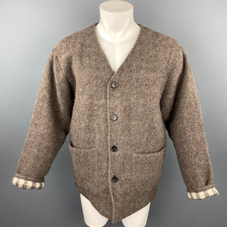 OUR LEGACY Size 38 Brown Wool / Alpaca Buttoned Blanket Cardigan Jacket