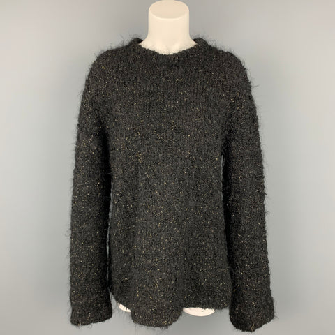 COMME des GARCONS Size L Black Wool / Polyester Gold Sweater