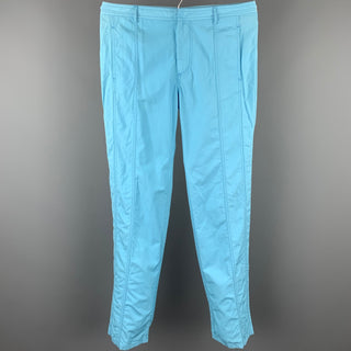 BALENCIAGA Size 34 Light Blue Cotton Zip Fly Casual Pants