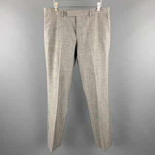 PS by PAUL SMITH Size 32 Heather Gray Wool Flat Front Dress Pants