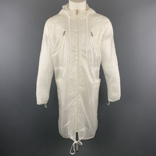 D.GNAK by KANG D. Size 38 White Sheer Nylon Zip Up Windbreaker Anorak