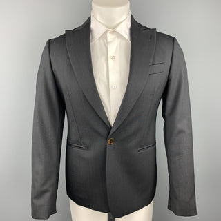 VIVIENNE WESTWOOD MAN James Size 36 Charcoal Wool Peak Lapel Suit