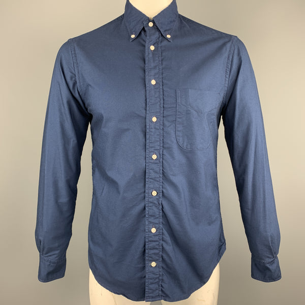 GITMAN VINTAGE Size M Navy Cotton Button Down Long Sleeve Shirt