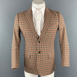 JUNYA WATANABE Size L Tan Plaid Wool Notch Lapel Sport Coat