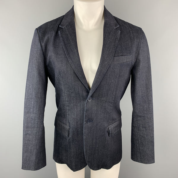 MY CONTEMPORARY 40 Regular Indigo Denim Notch Lapel  Single Breasted Sport Coat
