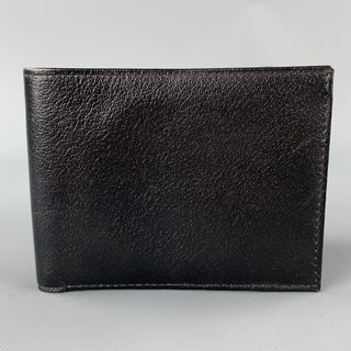 DON LOPER Black Leather Bi-Fold Wallet