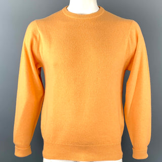 BALLANTYNE Size XL Peach Cashmere Crew-Neck Sweater
