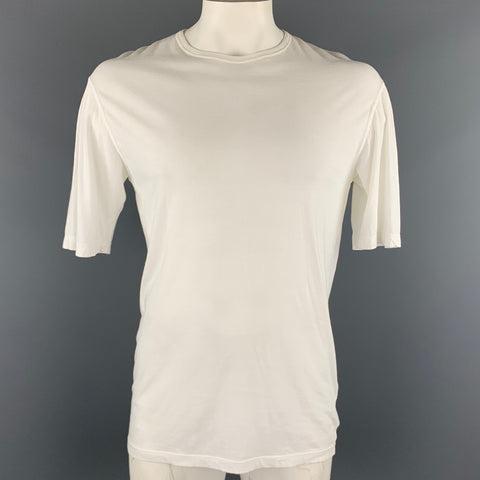 DSQUARED2 Size M White Cotton Crew-Neck T-shirt