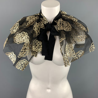 CO S/S 2018 Waist Size One Size Metallic Black & Gold Tule Collar