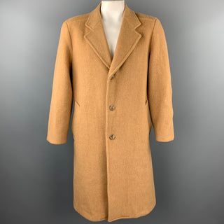 PENDLETON Size L Camel Virgin Wool Notch Lapel Coat
