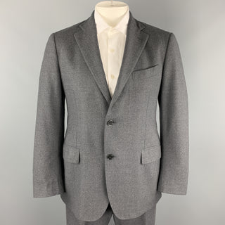 LARDINI Size 42 Dark Gray Wool Blend  Notch Lapel Suit