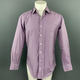 HAMILTON Size S Lavender Gingham Cotton Classic Long Sleeve Shirt