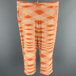 MISSONI SPORT Size 4 Orange Terry Cotton / Nylon Cropped Sweatpants