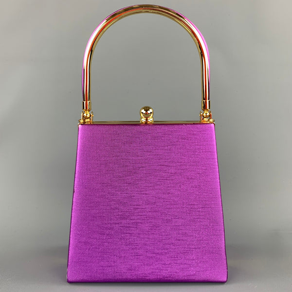 VINTAGE Purple Fabric Shoulder Strap Evening Handbag