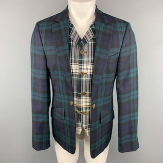 VIVIENNE WESTWOOD Size 40 Plaid Blackwatch Wool Vest Layer Sport Coat