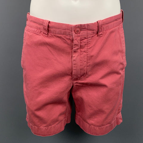J CREW Stanton Size 32 Rose Cotton Zip Fly Shorts