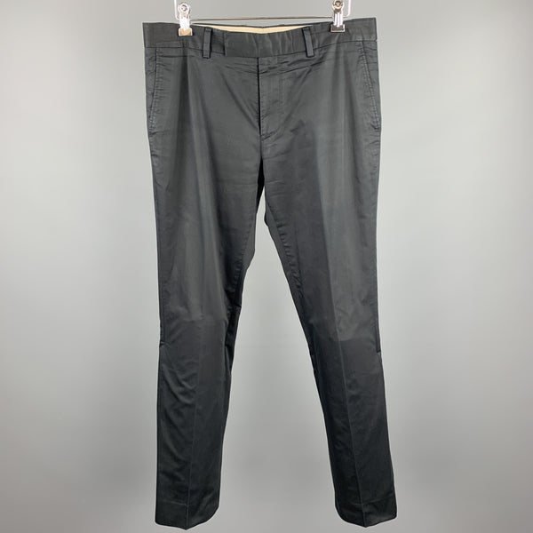 PS by PAUL SMITH Size 30 Black Cotton Zip Fly Casual Pants