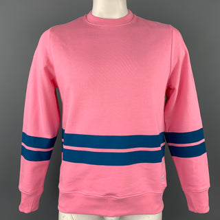 PS by PAUL SMITH Size L Pink Stripe Cotton Crew-Neck Sweatshirt