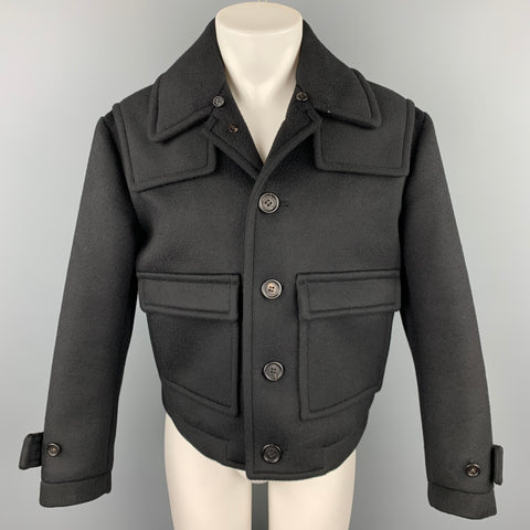 BURBERRY PRORSUM Size 38 Black Cashmere Blend Cropped Jacket