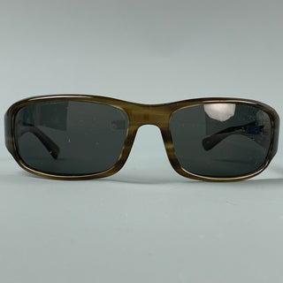 OLIVER PEOPLES Brown Acetate Polarized Sunglasses