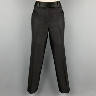 CHARLES NOLAN Size 4 Black Wool / Acetate Dress Pants