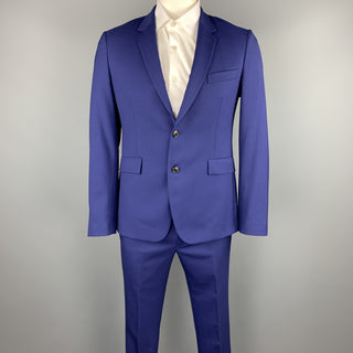 PAUL SMITH Size 40 Regular Royal Blue Wool Notch Lapel Suit