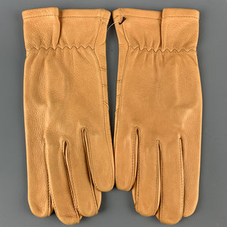 VINTAGE Size S Tan Deer Skin Gloves