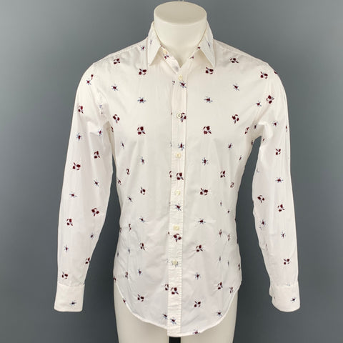 LIBERTY OF LONDON Size S White Embroidery Cotton Button Up Long Sleeve Shirt
