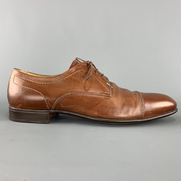 GRAVATI by ARTHUR BEREN Size 11 Tan Leather Cap Toe Lace Up
