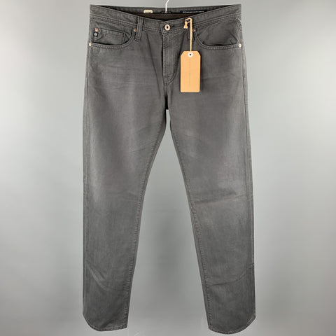 ADRIANO GOLDSCHMIED Size 33 Dark Gray Cotton Jean Cut Casual Pants