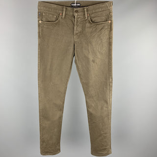 TOM FORD Size 30 Brown Cotton Button Fly Casual Pants
