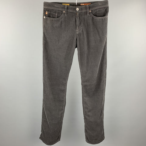 ADRIANO GOLDSCHMIED Size 32 Gray Pima Cotton Zip Fly Casual Pants