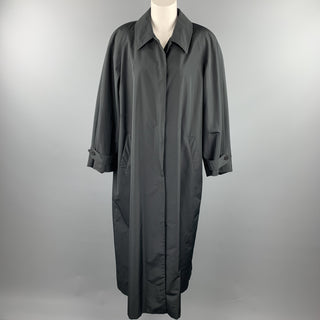JOAN & DAVID Size 8 Black Polyester / Silk Long Coat