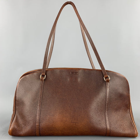Vintage TARDINI Brown Leather Shoulder Handbag