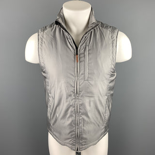 POLO GOLF Chest Size S Grey Nylon / Polyester Zip Up Vest