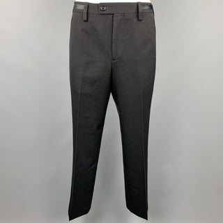 PAUL SMITH Size 36 Black Wool Tuxedo Dress Pants