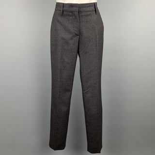 PRADA Size 2 Charcoal Virgin Wool Dress Pants