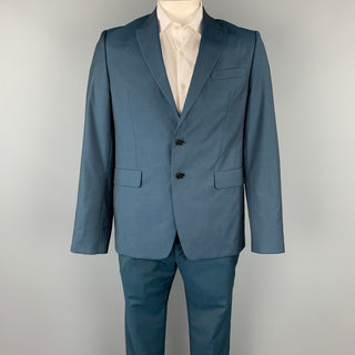 PS by PAUL SMITH Size 42 Blue Wool / Mohair Peak Lapel Suit