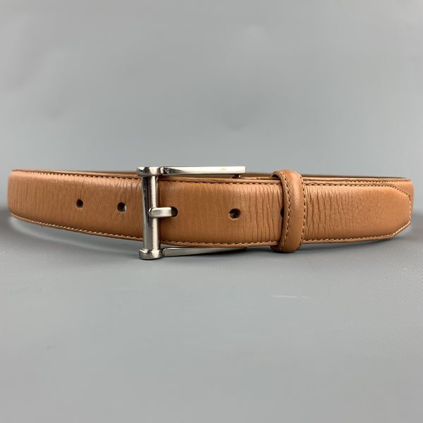 NEIMAN MARCUS Size 32 Tan Leather Belt