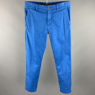 BROOKS BROTHERS Size 31 Blue Cotton Zip Fly Casual Pants