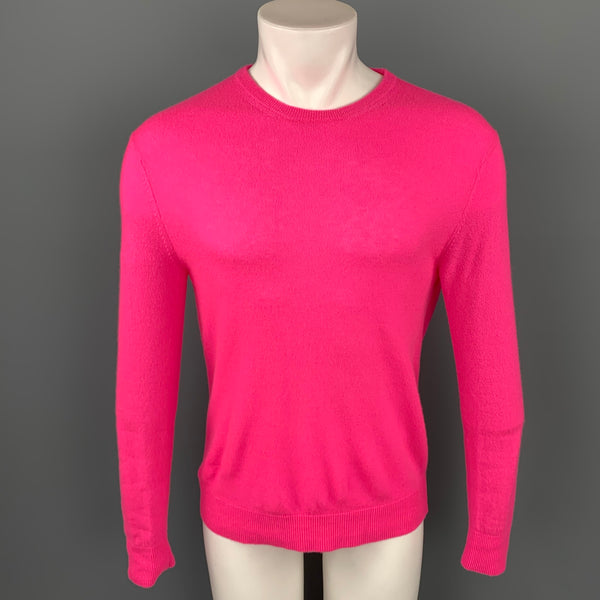 NICK WOOSTER x PAUL SHARK Size M Pink Cashmere / Nylon Crew-Neck Pullover