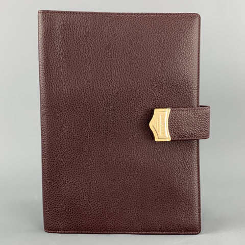 GOLDPFEIL Burgundy Leather Book Cover Case