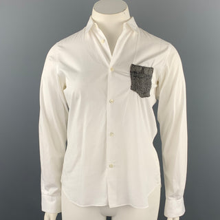 COMME des GARCONS SHIRT Size 10 White Cotton Button Up Blouse
